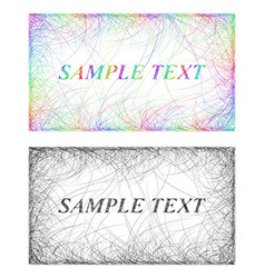 Colorful and monochrome card frame designs vector image vector image