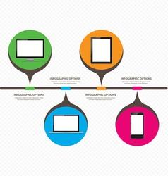 Development of information digital technology vector