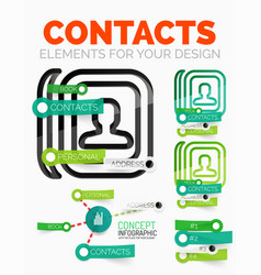 diagram elements set of contacts book vector image