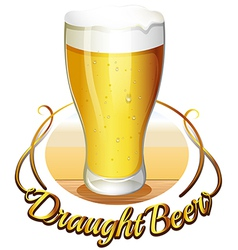 Draught beer label vector
