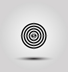 flat icon target in money vector image