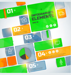 geometric business infographic elements vector image vector image