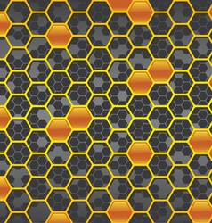 honeycomb background two vector image vector image