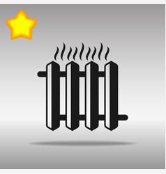 hot iron heater black icon button logo symbol vector image