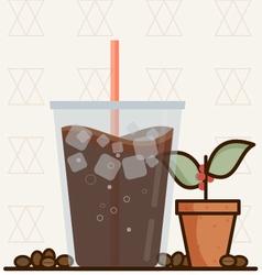 Ice coffee vector