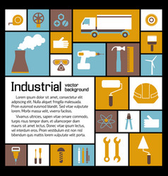 Industrial elements template vector