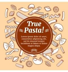 Italian cuisine food restaurant flyer vector image