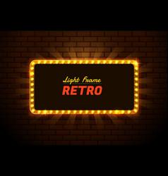 Light frame retro vector