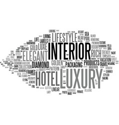 Luxury word cloud concept vector