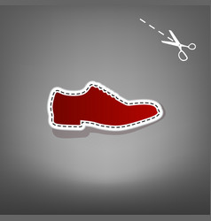 Men shoes sign red icon with for applique vector