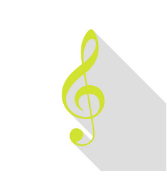 Music violin clef sign g-clef treble clef pear vector