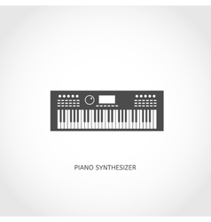 Musical instrument piano flat icon vector image