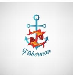 nautical anchor Symbol of vector image vector image