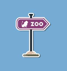 Paper sticker on stylish background zoo sign vector