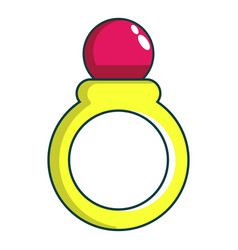 Princess ring icon cartoon style vector
