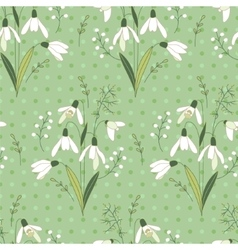 Seamless pattern with stylized cute white vector image vector image