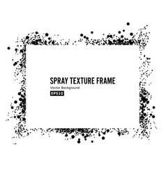 Spray texture frame dirty paint grunge vector