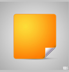 Square with a curved end vector