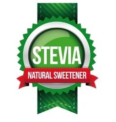 Stevia - natural sweetener ribbon vector