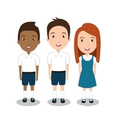students group uniform icon vector image