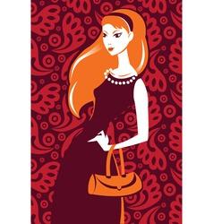 stylish girl vector image vector image