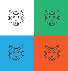 Tiger logo or icon in vector image vector image