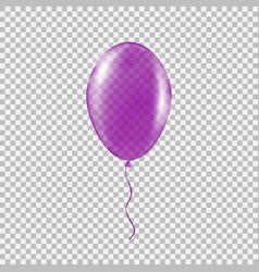 transparent purple helium balloon vector image