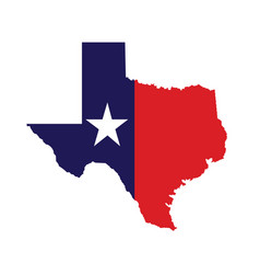 us state of texas map logo design vector image vector image