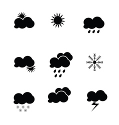 weather icon black vector image vector image
