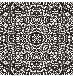 White graphic flower pattern on dark background vector