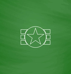 Ribbon star computer symbol vector