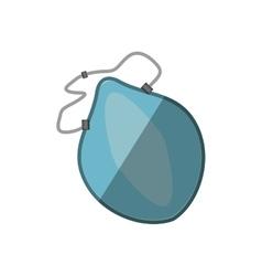 Cartoon breathing mask respiration protection vector
