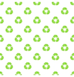 Recycling pattern cartoon style vector
