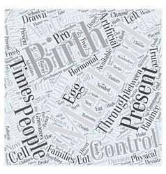Birth control word cloud concept vector