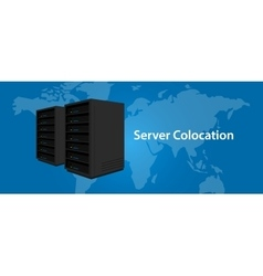 Colocation server web hosting services vector