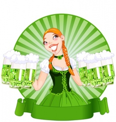 Saint patrick's day girl vector