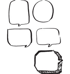 Set of frames hand drawn vector