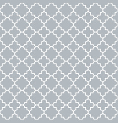 traditional quatrefoil lattice pattern trellis vector image