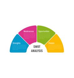 Swot business infographic diagram vector