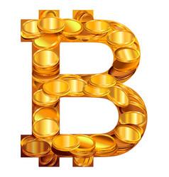 Bitcoin symbol virtual money vector