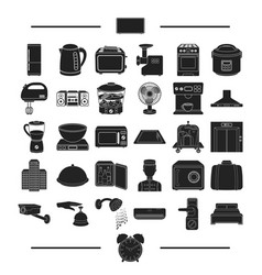 Vacation appliances domestic and other web icon vector