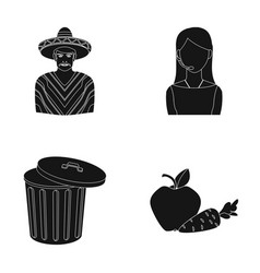 Mexican girl telephone operator and other web vector