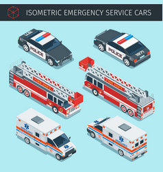 Emergency service cars vector