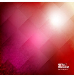 Abstract background squares red geometric vector