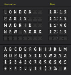 Analog airport scoreboard vector