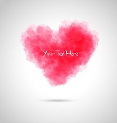 Watercolor heart background vector image