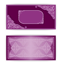 paper horizontal invitation card vector image