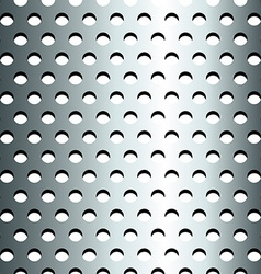 Seamless stainless metallic grid pattern vector