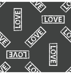 Rubber stamp love pattern vector