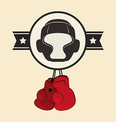 Boxing design vector image